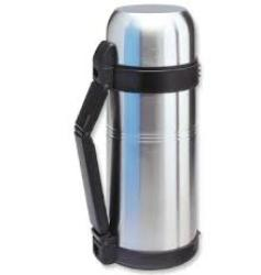 Isosteel S/S Vac Flask 1.5L & 0.25L Quickstop Flask W/Plastic Cup And Strap